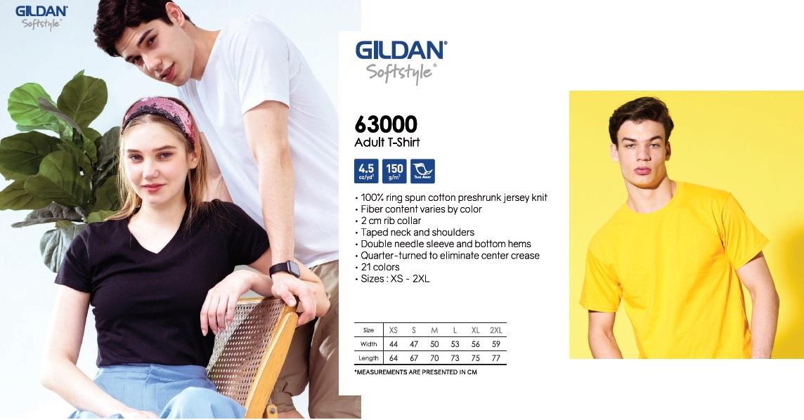Gildan 63000 tshirt printing softstyle