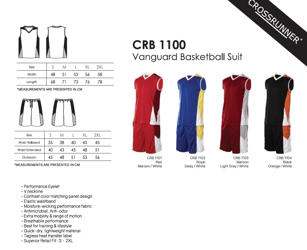 Crossrunner Basketball Suit Set Printing