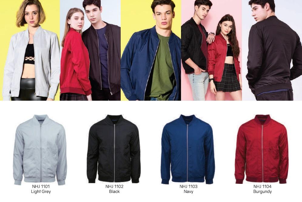North Harbour Jacket colour size chart