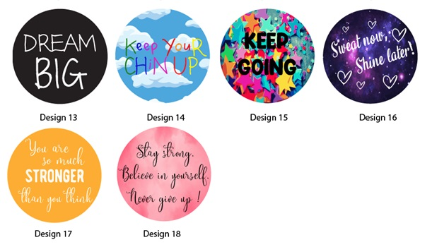 motivational positive quotes keychain pin button badges design