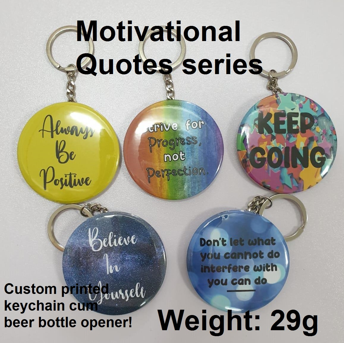 58mm custom printed bottle opener (motivational reward series)