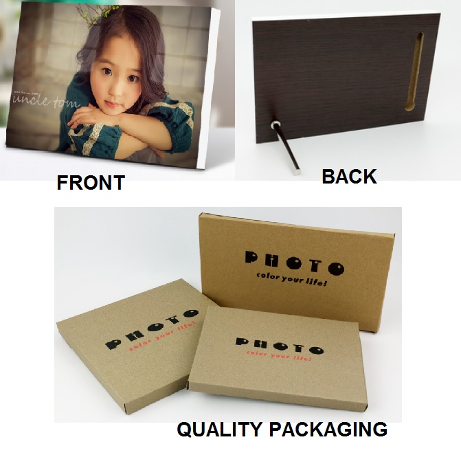 Custom Printed Personalized Photo with Stand